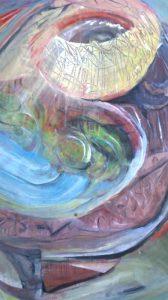 Schilderij Oerstation